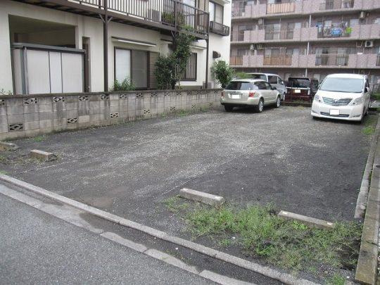 駐車場の草むしり