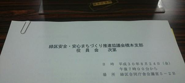 緑区安全・安心まちづくり推進協議会橋本支部 役員会